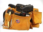 foto of mace  - Suede tool pouch filled with weapons - JPG