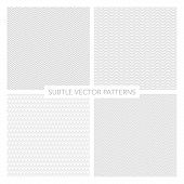 stock photo of twist  - set of vector subtle patterns - JPG