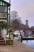 pic of avon  - The River Avon in Stratford upon Avon looking towards the Royal Shakespeare Company Theatre - JPG