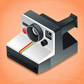 picture of mm  - vector illustration of instant camera - JPG