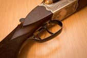 image of shotgun  - double barrel shotgun  - JPG