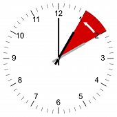 foto of daylight saving time  - Illustration of a Clock being set from 3 - JPG