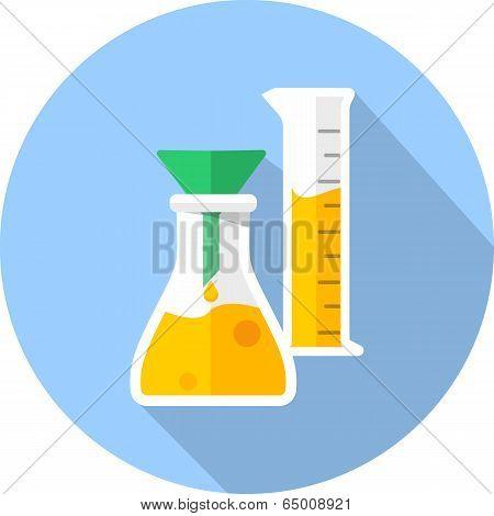 Vector laboratory glassware