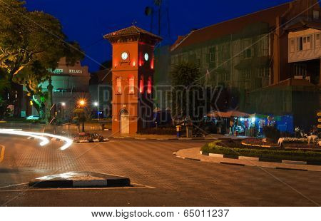 Square In Malacca At Night