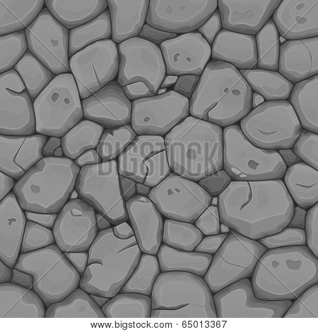 Gray stone seamless background. Vector illustration