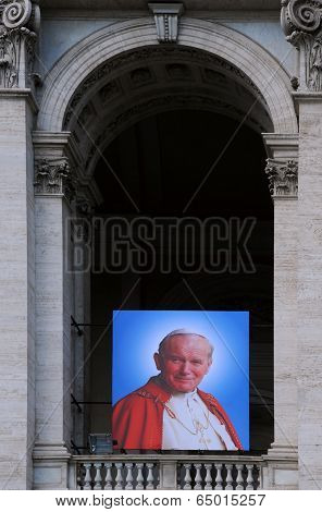 Portrait Of Pope John Xxiii On Basilica