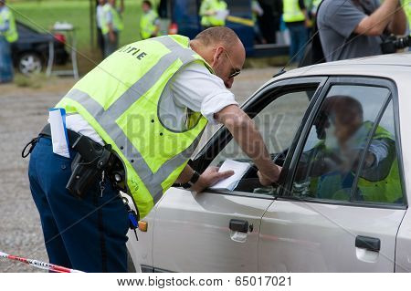 Police During Traffic Control