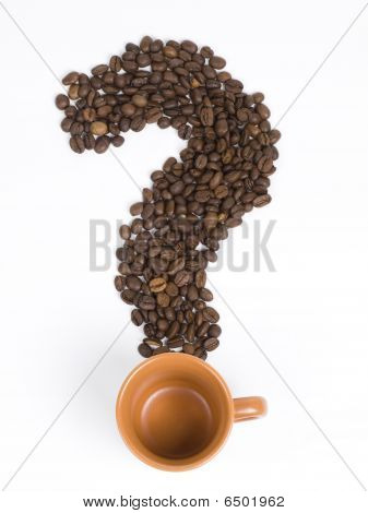 Coffee Beans. Question Mark.