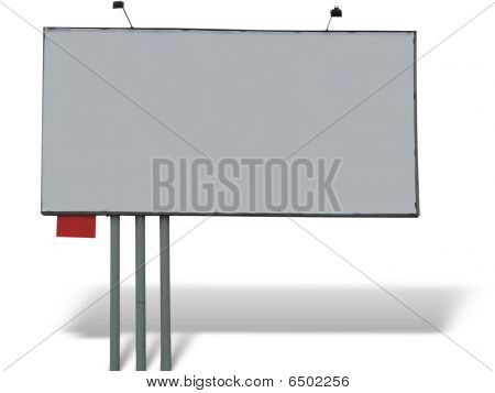 Blank Billboard Over White Background