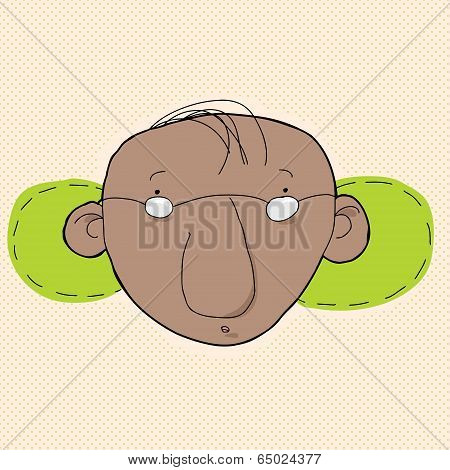 Man With Green Behind Ears