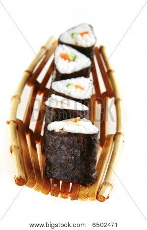 Served Tako Sushi