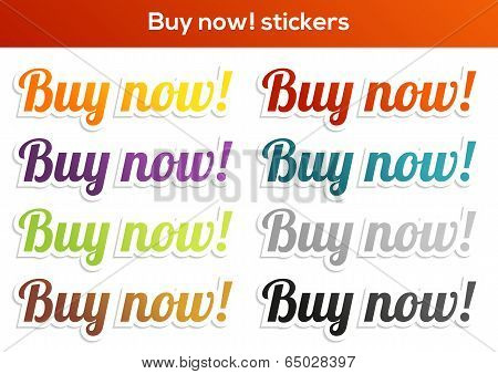 Buy Now! Stickers