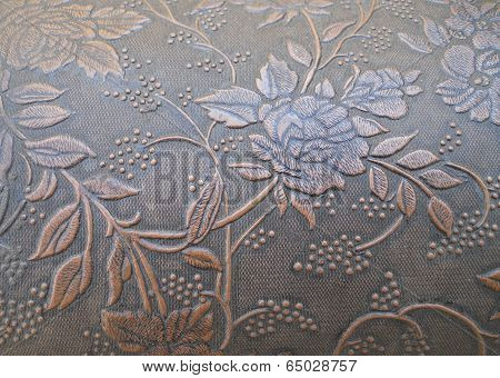 Close Up Texture Embossed Floral