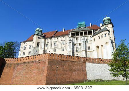 Wawel Royal Castle In Krakow, Poland