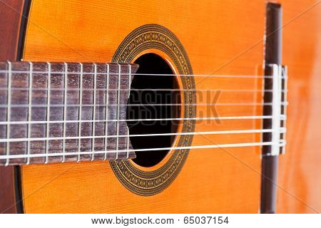 Body Of Spanish Acoustic Guitar