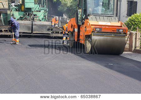 Asphalting Road