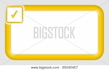 Vector Frame For Text Insertion With Check Box