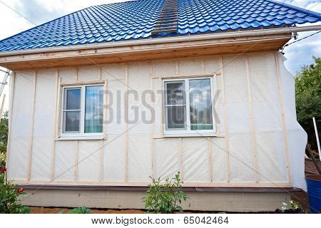 External Wall Insulation In Wooden House