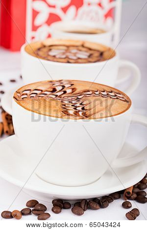 Two cappuccino cups