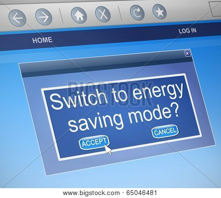 Energy Saving Mode Concept.