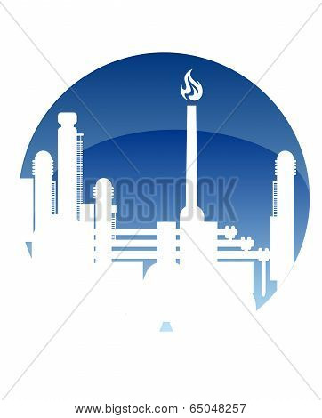 Industry and fuel refinery icon