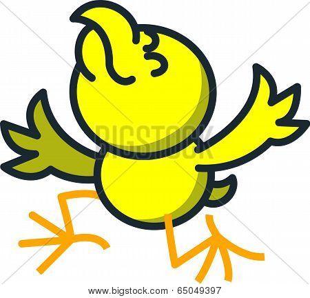 Thankful artist chicken
