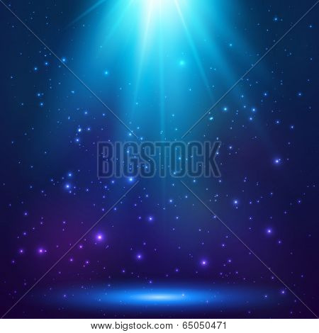 Blue magic light, vector background