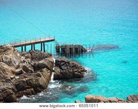 Sunken Pier in Perhentian Kecil Island, Malaysia