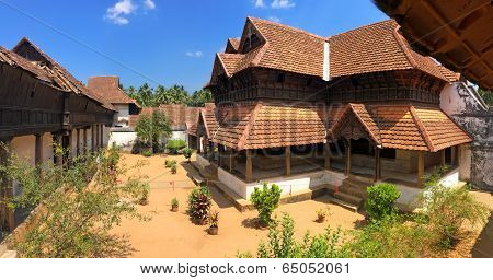 The wooden palace Padmanabhapuram of the maharaja in Trivandrum