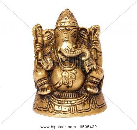Estátua de bronze do Deus indiano Ganesh
