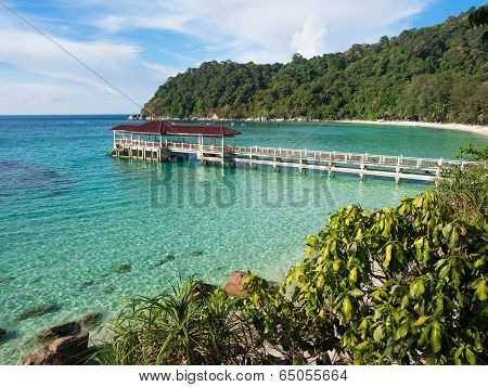 Main Pier in Perhentian Besar Island, Malaysia