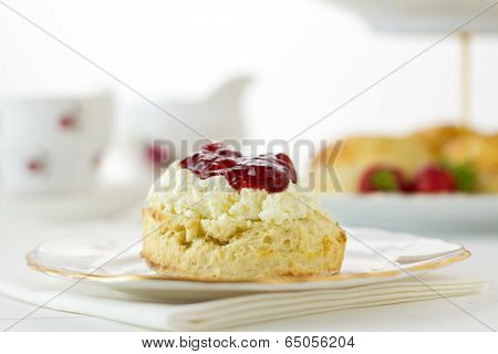 English Cornish Cream Tea, Horizontal