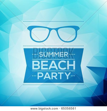 Abstract Summer Party Card Template - Vector Design Concept