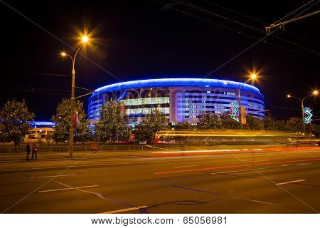 Minsk, Belarus - May 9 - Minsk Arena On May 9, 2014 In Belarus. Ice Hockey Championship Opening.