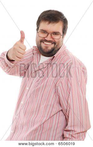 Happy Big Mid-adult Man