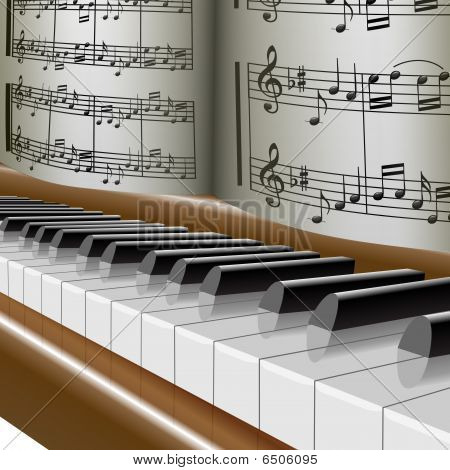 Piano-Music notes-Melody