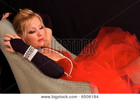 Sleeping Costumed Blonde