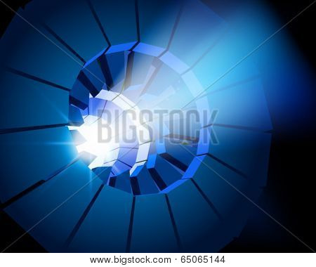 Lens of projector. Vector illustration.