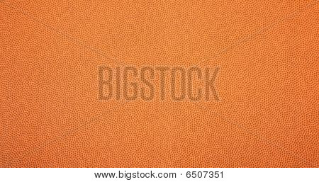 Leather Textured Basketball Background