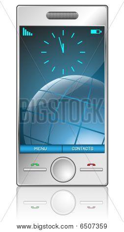 Metallic mobile phone
