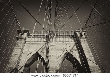 Vintage Photo Of Brooklyn Bridge (nyc)
