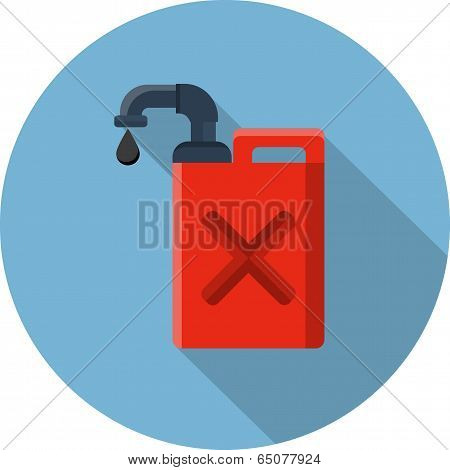 Vector Fuel Container or Gas Can