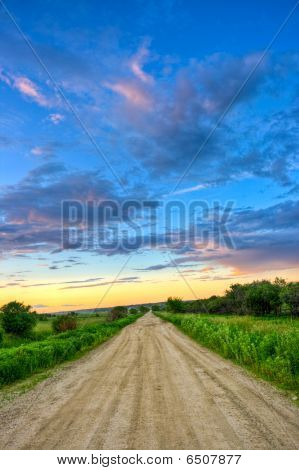 Dirt Road To Sunset