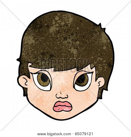 cartoon sulking woman