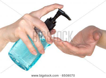 Moisturizing Hand Sanitizer From A Pump
