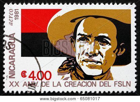 Postage Stamp Nicaragua 1981 Augusto Cesar Sandino