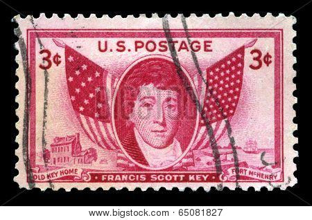Francis Scott Key Us Postage Stamp
