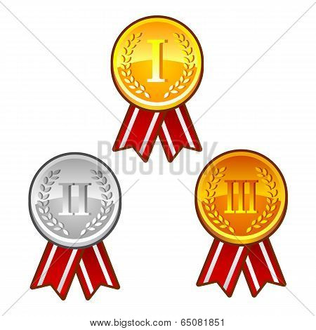 Medals with numbers