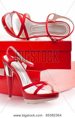 Red Shoes With Boxes