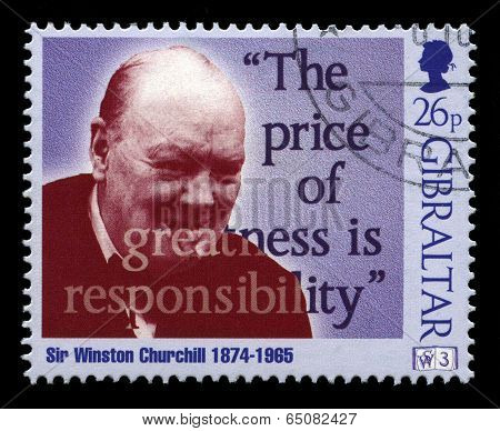 Sir Winston Churchill Postage Stamp